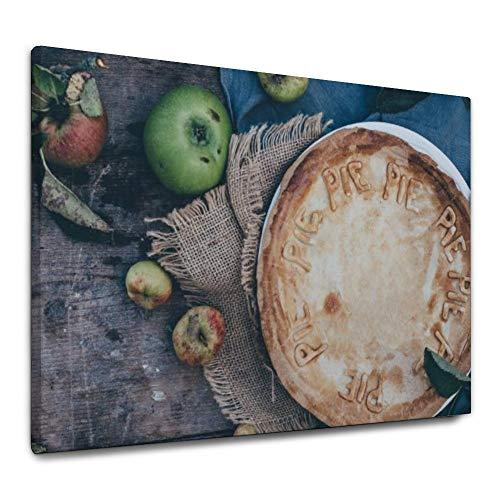 ART VVIES Tafelgabel Pflanze Holz Obst Mit Haken Malerei Leinwanddrucke 36x24 Zoll Perfekte Wandbild Kunst Holz Eingerahmt für Hauptdekorationen
