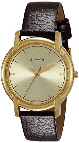 51XbpkLIkKL - Sonata 7954YL08 Champagne Mens watch