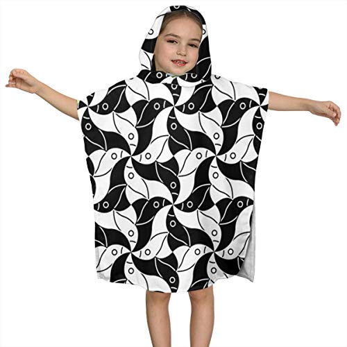 BigHappyShop Baby's Cute Hooded Bath Beach Towel X Birds Ultra Soft Quick Drying Super Soft Single Ply 100% Organic Cotton
