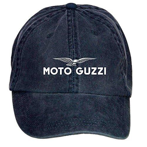 Preisvergleich Produktbild FENGTING Moto Guzzi Logo Adult Cotton Washed Baseball Cap With Adjustable Velcro One Size ColorName Hat Caps