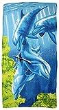 Sonia Originelli Strandtuch Baumwolle Beach Handtuch Palmen Tiere Hamburg Farbe Delphine unter Wasser