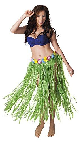 erdbeerloft - Hawaiirock Flower Hoola Hoola Kostüm lang, (Kostüm Mann Tiki Halloween)