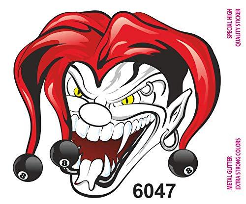Quattroerre 6047 Adesivi Sticker Joker, 10 x 12 cm