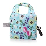Einkaufstasche in eine Tasche Tote Fold Away verwendbar Pocket Shopper–Lisa BUCKRIDGE Design Blau Springtime