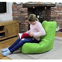 MaxiBean Bean Bag Indoor Beanbag Outdoor Garden Recliner Cushion Kids Chair Lime Green