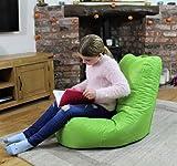 MaxiBean Pouf poire d'intérieur - Fauteuil de jardin relax - idéal pour enfants - Vert citron