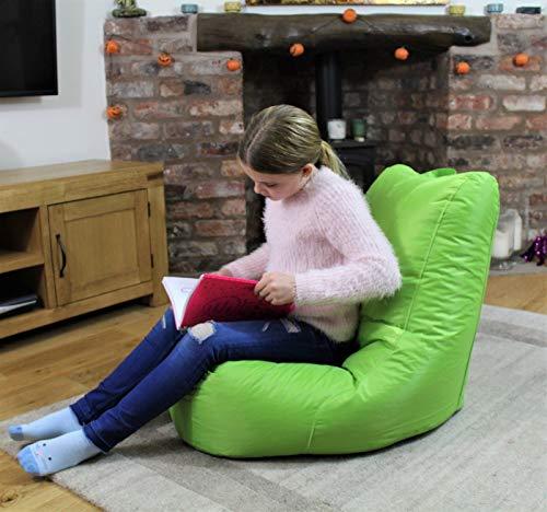 MaxiBean Puf para Interior o Exterior, cojín reclinable para jardín, Silla para niños, Color Verde Lima