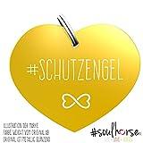 Pferde Glücksmarke #Schutzengel in gold– Gücksbringer - Soulhorse Anhänger Halfter, Trense, Zaumzeug, Sattel, Vorderzeug, Geschenk Reiter