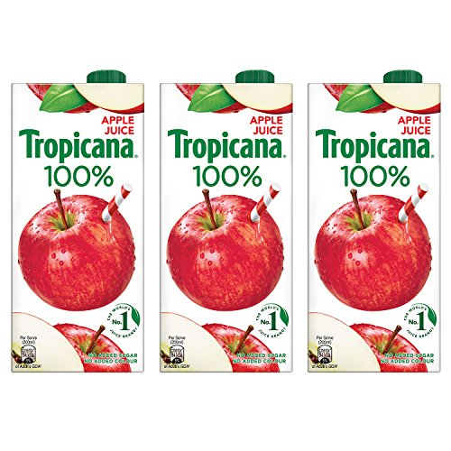 Tropicana Apple 100% Juice 1L (Pack of 3)