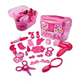 PowerBH Pretend Spielen Spielzeug Für Mädchen Schönheit Set Kinder Geschenk Spielzeug Fön Spiegel Parfüm Lippenstift Simulation Spielzeug