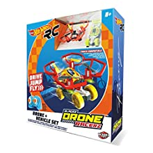 Hot Wheels-63568 Car and Dron, Red (63568)