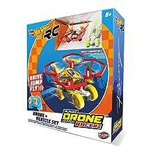 Hot Wheels-63568 Voiture et Dron Rouge (63568)