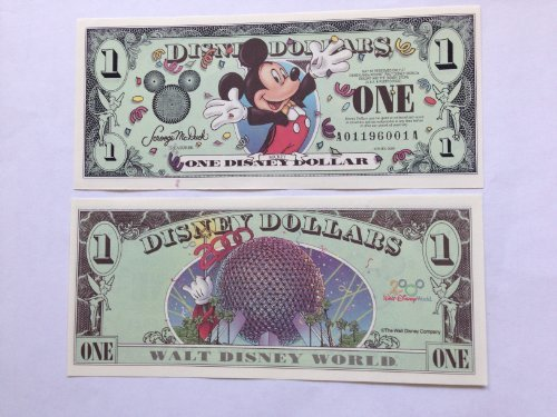 Disney Dollars 2000 Mickey $1 Bill (Disneyland) by Disney Disney Mickey-dollar