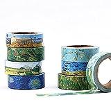 JSGDJD Klebeband 8 Stk/Pack 15 MM * 7 cm Die Sammlung von Van Gogh Gemälde Washi Tape DIY Scrapbooking Sticker Label Maskierung Handwerk Band - 01.