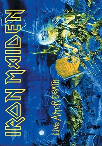 Poster Bandiera Iron Maiden Live After Death