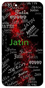 Jatin (Hindu Boy) Name & Sign Printed All over customize & Personalized!! Protective back cover for your Smart Phone : Micromax Canvas Sliver 5 Q450