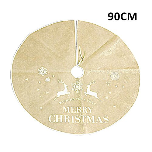 Weihnachtsbaum Röck, Weihnachten Baum Rock Urlaub Baum Ornamente Dekoration für Weihnachten - rot, Gold (Dekorationen Rot Gold Und)