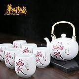 CUPWENH Hankook Porzellan Full Packaged Tee Weiße Hand Teekanne Duftenden Kaffee Tassen Home Moderne Chinesische Gesche