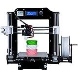 ALUNAR Actualizado DIY Desktop 3D impresora Reprap Prusa i3 Kit, de alta precisión de autoensamblaje Tridimensional FDM impresora, máquina de impresión multicolor-EU