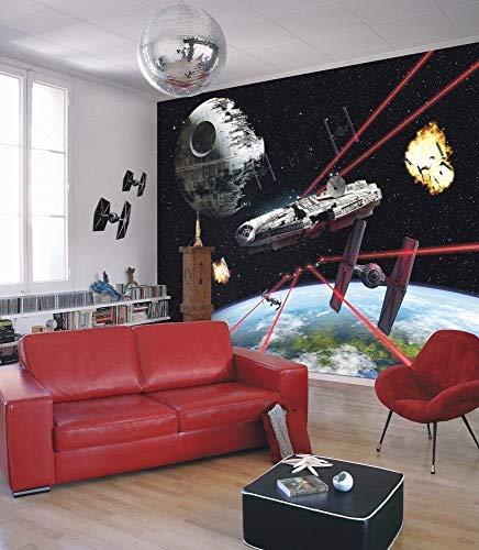 Komar - Fototapete STAR WARS MILLENNIUM FALCON - 368 x 254 cm - Tapete, Wand, Dekoration, Wandbelag, Wandbild, Wanddeko, Galaxy, Erde, Raumschiff - 8-489 -