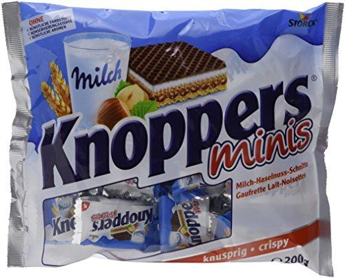 Knoppers, das Frühstückchen – und alles ist drin! Knoppers Minis – 4er Pack (4 x 200g Beutel)