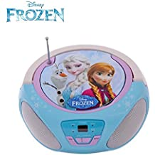 Childrens CD Player for Kids Disney Frozen Boombox featuring Anna, Elsa and Olaf by Disney Frozen