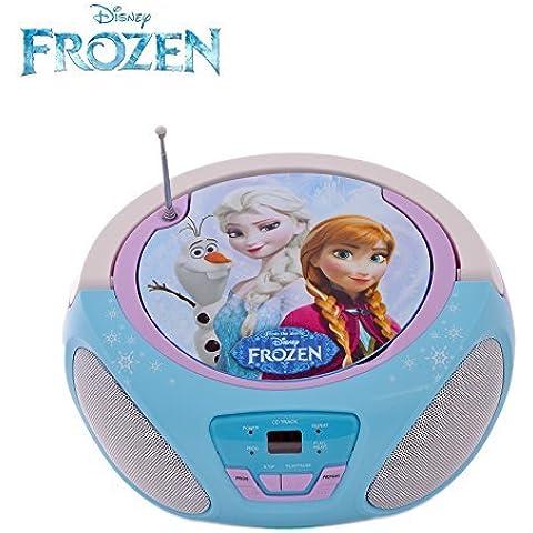 Reproductor de CD infantil Frozen de Disney, radiocasete con los personajes Anna, Elsa y Olaf