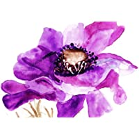 LARGE CANVAS ART PURPLE PAINTED FLOWER BOX CANVAS READY TO HANG 30 X 20 INCHES preiswert