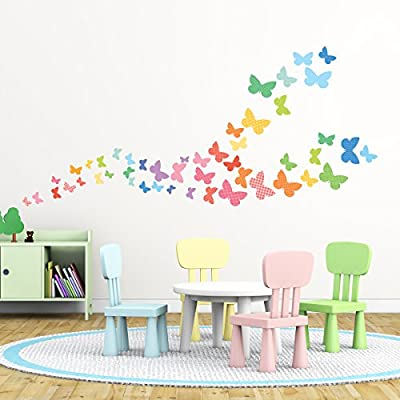 Decowall DW-1302 Leuchtende Schmetterlinge Wandsticker Wandaufkleber Wandtattoo Kinderzimmer von Decowall - TapetenShop