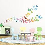 Decowall DW-1613 Mariposas Dulces Vinilo Pegatinas Decorativas Adhesiva Pared Dormitorio Salón Guardería Habitación Infantiles Niños Bebés