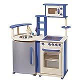 topmoderne Spielküche aus Holz von howa natur / blau