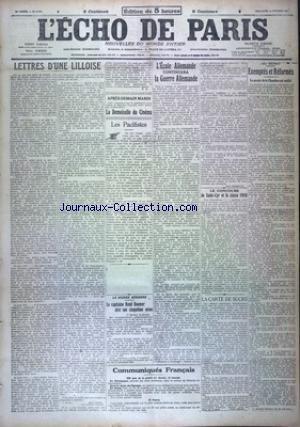 ECHO DE PARIS (L') [No 11874] du 18/02/1917
