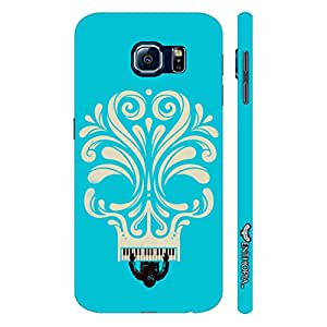 Samsung Galaxy S6 Blue Piano Skull designer mobile hard shell case by Enthopia