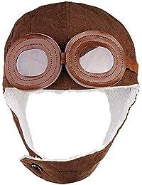 Ogquaton Sombrero del piloto de los niños Otoño e invierno Sombrero del  aviador del bebé Sombrero c66d03b19f8