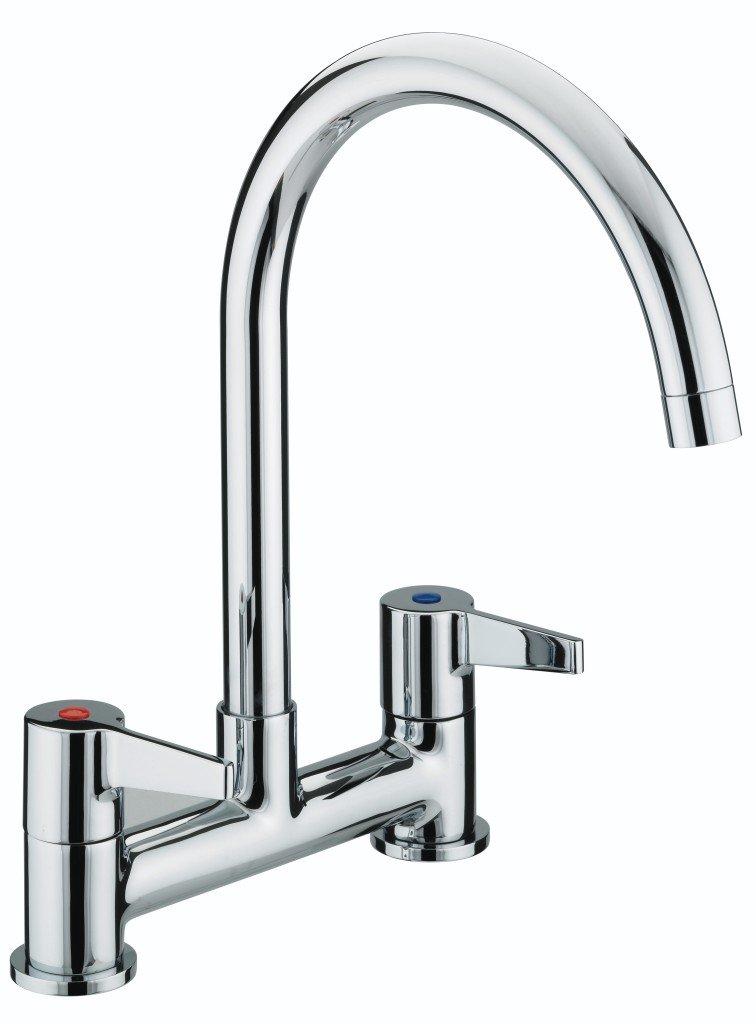 Bristan DUL DSM C Design Utility Lever Deck Sink Mixer - Chrome ...