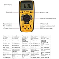 Heaviesk Digital Multimeter HC890C Digitales Handmultimeter AC/DC Volt Amp Ohm Kapazität Temperatur Diode hFE Tester Durchgangsprüfung 1999 Zählimpulse