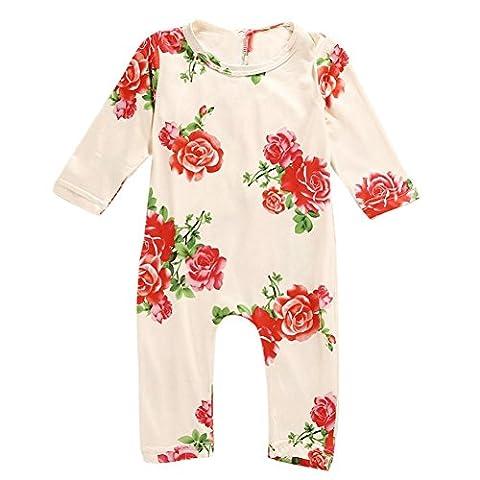 Koly Baby Kids Boy Girl Infant Romper Jumpsuit Bodysuit Cotton