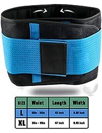 SGIN Rückenorthese, Lendenwirbelgurt Dual verstellbare Träger, hilft bei Schmerzen im unteren Rücken und Stress, Skoliose, Bandscheibenvorfall, Ischias bei Männern und Frauen - Blau