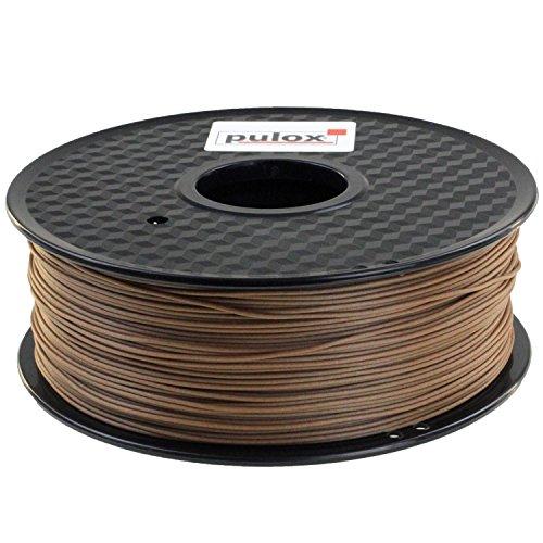 PULOX Wood - Filamento per stampante 3D, 1 kg, 1.75 mm