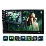 KKMOON autoradio 7 pouces universel 2 Din HD Bluetooth stéréo FM MP5 multimédia player Écran tactile USB / AUX Entrée AUX avec HD caméra de marche arrière divertissement de voiture
