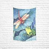 interestprint Custom Dragon Fly rana lino y algodón colcha dormitorio Decor-Tapiz colgar...