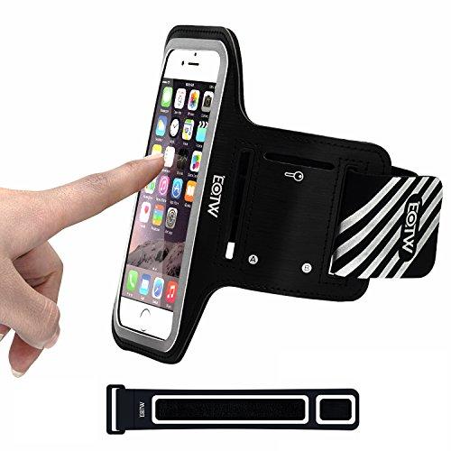 EOTW Sportarmband Handyhülle universell passend für iPhone 5/5s/SE, Ideal für Sport, Freizeit aber auch in der Arbeit praktisch zu verwenden(4,0 Zoll, Schwarz)