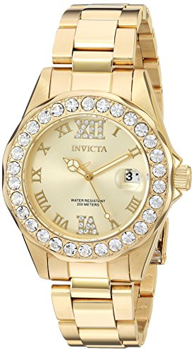 Invicta 15252 Pro Diver Reloj Unisex acero inoxidable Cuarzo Esfera oro