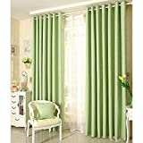 Frideko 1 Set (2 Panels) of Modern Thermal Insulated Blackout Stars Windows Curtains 72 (H) x 66 (W) inch with Hooks for Living Room Bedroom (Green)