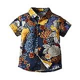 Obestseller Jungenbekleidung,Kinder Kurzarm Gentleman Shirt Top T-Shirt,Kleinkind Baby Kinder Jungen Gentleman Cartoon Bär gedruckt T-Shirt Tops Kleidung,Sommerkleidung