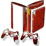 Ländern, Designfolie Sticker Skin Aufkleber Schutzfolie mit Farbenfrohem Design für PlayStation 3 Super Slim