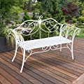 Garden Patio 2 Seater Metal Love Seat - This Garden Patio 2 Seater Metal Love Seat for your garden is made from metal and is finished in white.