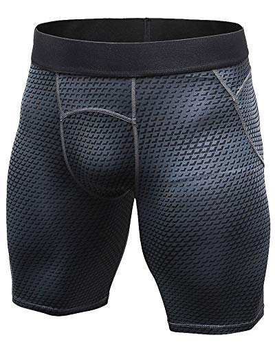 664063f45c8e Leggings Compression Short da Uomo Baselayer Asciugatura Rapida Corsa  Sportivo Pantaloncini Nero XL
