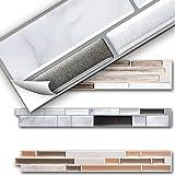 Grandora 6er Set 26 x 4,2 cm Fliesenaufkleber grau marmor Silber dunkelgrau metallic Design 4 I 3D Mosaik Küche Bad Fliesendekor Wandaufkleber Fliesensticker W5529