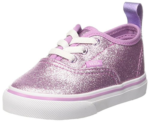 Vans Authentic Glitter (Vans Unisex Baby Authentic Elastic Lace Sneaker, Pink (Glitter + Metallic/ Lilac), 26 EU)
